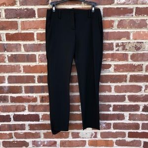 Theory Black Wool Pants 2 Slim Straight Ankle